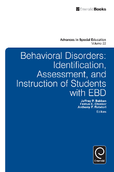 Cover of Behavioral Disorders: Identification, Assessment, and Instruction of Students with EBD