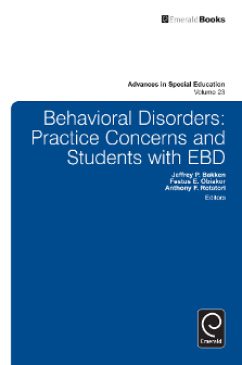 Cover of Behavioral Disorders: Practice Concerns and Students with EBD