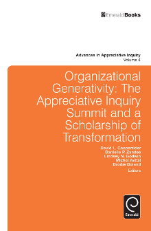 Cover of Organizational Generativity: The Appreciative Inquiry Summit and a Scholarship of Transformation