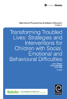 Cover of Transforming Troubled Lives: Strategies and Interventions for Children with Social, Emotional and Behavioural Difficulties