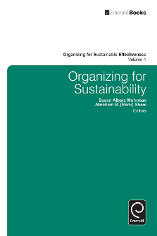 Cover of Organizing for Sustainability